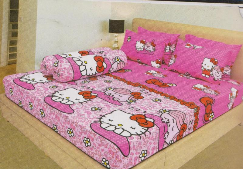 SPREI LADY ROSE HELLO KITTY PINK