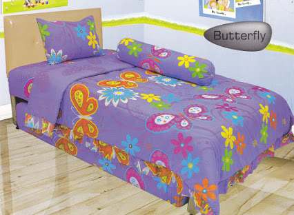 BED COVER LADY ROSE 120 BUTERFLAY