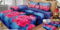BED COVER LADY ROSE 180 Aqua
